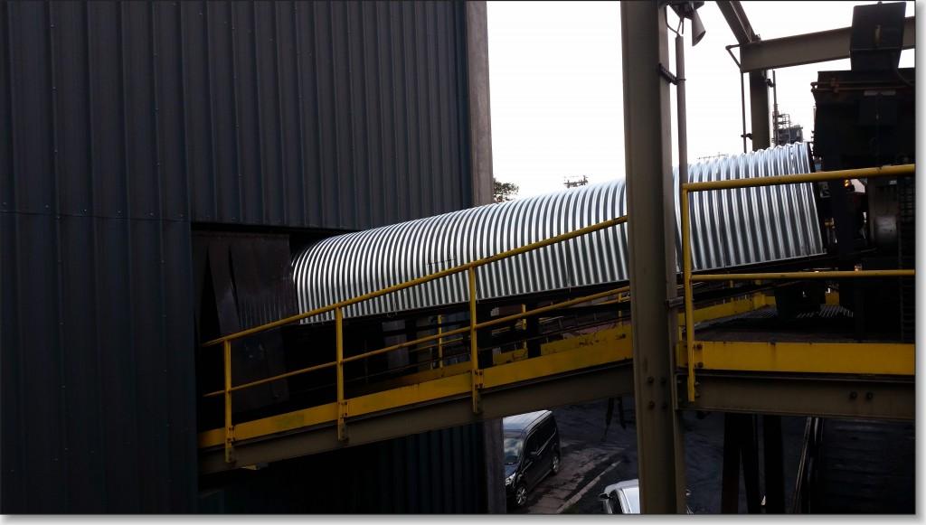 metalen bandoverkapping voor transportbanden
